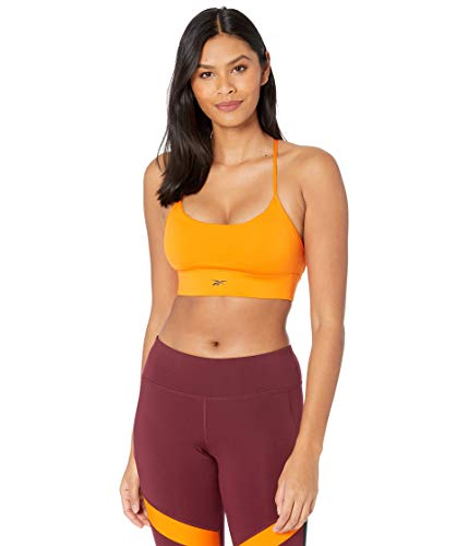 Reebok Workout Ready Low Impact Strappy Sports Bra, High Vis Orange, S