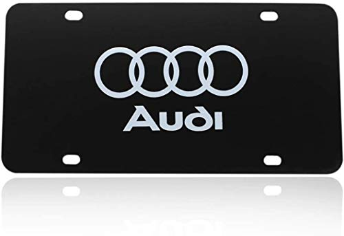Black Mirrored Stainless Steel Metal Plate Frame Applies to The Front Frame of The Car (Fit Audi)