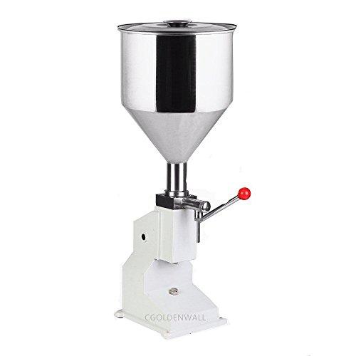 cgoldenwall A03 Manuelle Liquid Füllung Maschine Handpresse Dosis Frische/creme/Joghurt/Honig Filler Füllmaschine 5-50ml 20-30Flaschen/min
