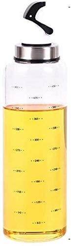 El aceite puede olivar o vinagre anti-fuga, Botella de vinagre de vidriero de aceite de calibre ancho con aceite de aroma de vertido a prueba de fugas de fugas de fugas de fugas de vidrio con escala