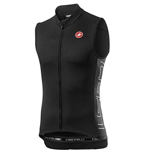 CASTELLI ENTRATA V Sleeveless T-Shirt, Light Black, Small Homme