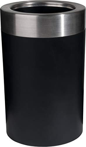 Emsa 507602 Flaschenkühler, Soft-Touch, Integriertes Kühlgel, 6 St. Kalt, Gefriergeeignet, Schwarz, Thermo
