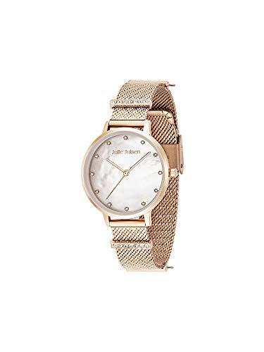 Julie Julsen Charming Pearls JJW1231RGME-34 - Reloj de pulsera de acero inoxidable para mujer con correa de acero inoxidable en oro rosa
