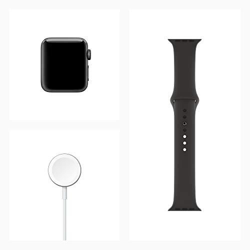 AppleWatchSeries3(GPSモデル)-38mmスペースグレイアルミニウムケースとブラックスポーツバンド