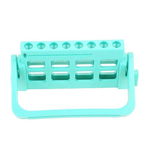Escala de soporte de taladro de lima endodóntica Equipo de dentista transparente para agujas de expansión Lima de medición expandida(green)