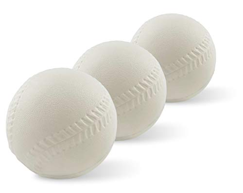 Foam Toddler Baseballs (3 Pack) - Compatible with Fisher-Price Triple Hit Pitching Machine & Tball Set | Soft Baseballs for Kids Learning Skills | Perfect T Balls for Toddlers and Beginners