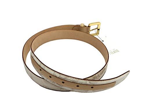 ALVIERO MARTINI Cintura donna Prima Classe Art. CA2776188 colore geo bianco. Misura 95 cm. Altezza 3 cm.