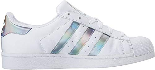 adidas Originals Jungen Superstar Sneaker, Weiß/Weiß/Gold Metallic, 39 1/3 EU