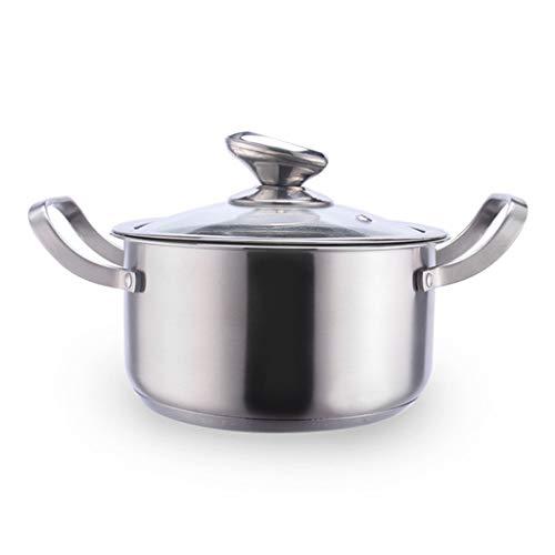 FREEDOH Edelstahl-Kochtopf Antihaftbeschichtung Küche Kochen Kochgeschirr, SUS304 Food Grade Edelstahl Boiling Milch, Sauce, Saucen, Pasta, Nudeln,18cm