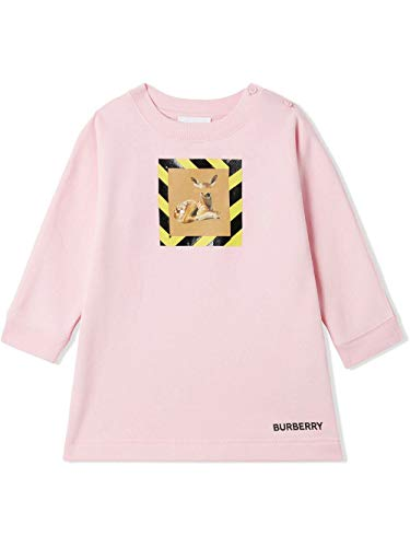 BURBERRY Luxury Fashion Baby 8028419 Rosa Baumwolle Kleid | Frühling Sommer 20