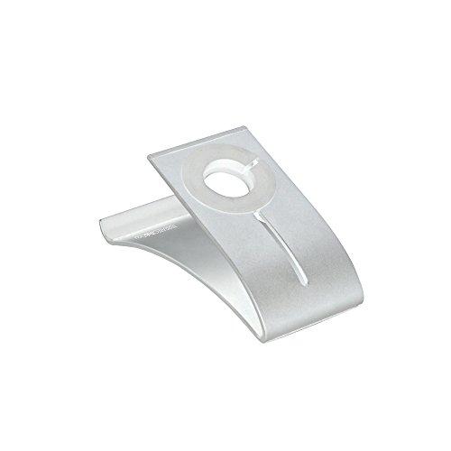 TERRATEC iTab Duo Silber, Smartphone u. Apple Watch Ständer aus Aluminium, Für iPhone, Samsung Galaxy und weitere