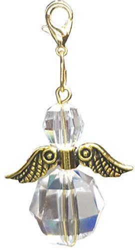 DDesign Guardian Angel with Swarovski Crystals Gold (Car Pendant, Window Crystal, Window Decoration, Lucky Angel, Keyring, Swarovski)