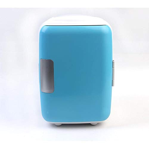 ZLININ Refrigerador de coche 4 l 12 V mini refrigerador de coche calentador multifunción refrigerador refrigerador refrigerador portátil eléctrico caja congelador (nombre del color: azul)