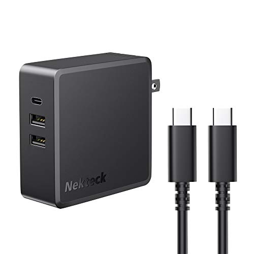 Nekteck 95W USB C Wall Charger with Multiple Ports [USB-IF Certified], PD 3.0 Charger with Foldable Plug for MacBook Pro/Air, HP Spectre, Dell XPS, iPad Air/Pro, iPhone 11/12/XR, Pixel 3 XL, etc