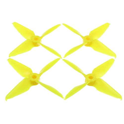 YNSHOU Accesorios de Juguete 2 Pares Furiousfpv RageProp 3054-4 3x5.4x4 Race Edition Hélice de 4 Palas CW CCW Amarillo para RC Drone (J)