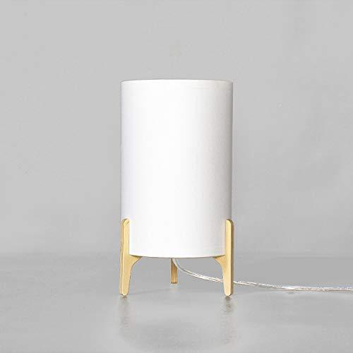 Lámpara de mesa tela blanca Iluminación Salón Dormitorio