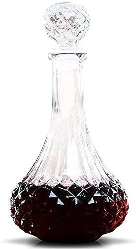 llxyzrzbhd Licorera Whisky Decantador De Vino Decantadores de Vidrio de Cristal sin Plomo creativos de Moda en Forma de Diamante Jarra de Vino Decantador aireador 1015