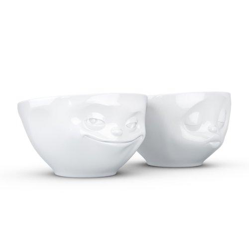 Fiftyeight T012201 Schälchen-Set Grins Kuss 2-teilig Hartporzellan 200 ml, weiß