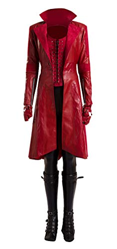 COSKING Deluxe Women's Scarlet Witch Costume Movie 1:1 Cosplay Outfit (Small, Full Set)