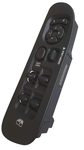 SWITCHDOCTOR Fully Assembled Window Master Switch & Black Bezel Set for 2002-2009 Dodge Ram