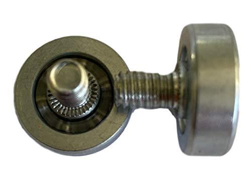 6x Laufrolle Kugellager-Rollen mit M6 Gewinde für Maschinenbau – Kunststoff oder Metallrollen 19mm oder 22mm Durchmesser & Form auswählen (6x 19mm Ø, Chromstahl (Verzinkt) M6x8mm Gewinde)