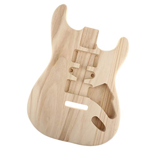 kesoto Unfinished Guitar Polished Body Sycamore Wood for ST Guitar DIY Material Luthier Tool