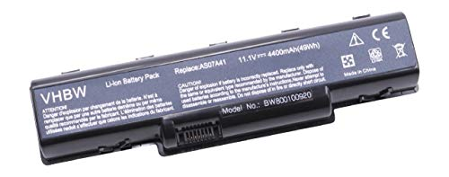 vhbw Akku passend für Aspire 5332 All Series, Aspire 5516 All Series Laptop Notebook - (Li-Ion, 4400mAh, 11.1V, 48.84Wh, anthrazit)