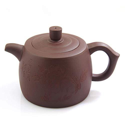 CNTeaHouse 500/ML de Yixing Chinois Dieu de la Long/évit/é Faite /à la Main Violet Argile poterie Zisha Th/éi/ère