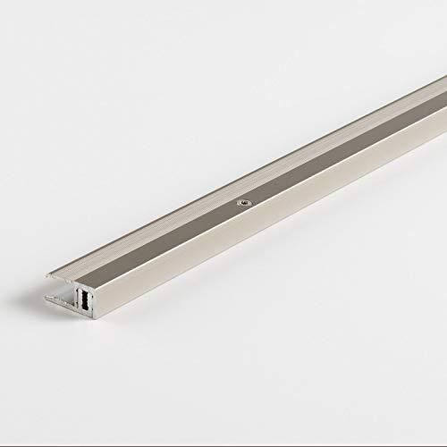 Parador Boden-Profile Abschlussprofil Aluminium Edelstahl für Vinyl/Laminat Bodenbeläge 7-15 mm