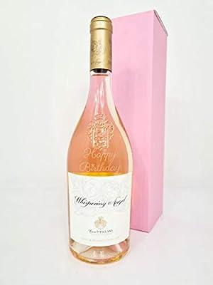 Whispering Angel * ENGRAVED HAPPY BIRTHDAY * Award Winning Rosé Wine present - ONE Bottle 750ml