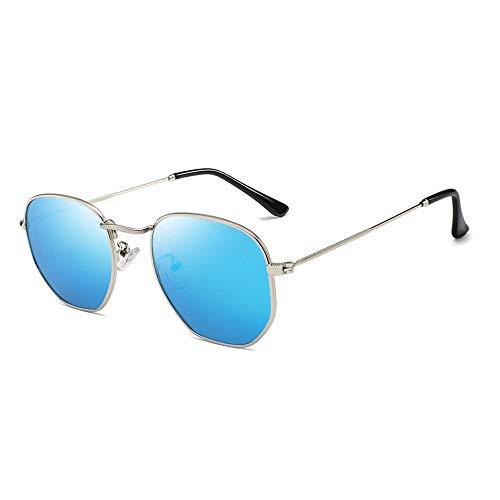 XXY Gläser Polarisierte Sonnenbrille Frauen HD True Color Film Sonnenbrille Bunte Sonnenbrille unisex (Color : Blau, Size : Kostenlos)