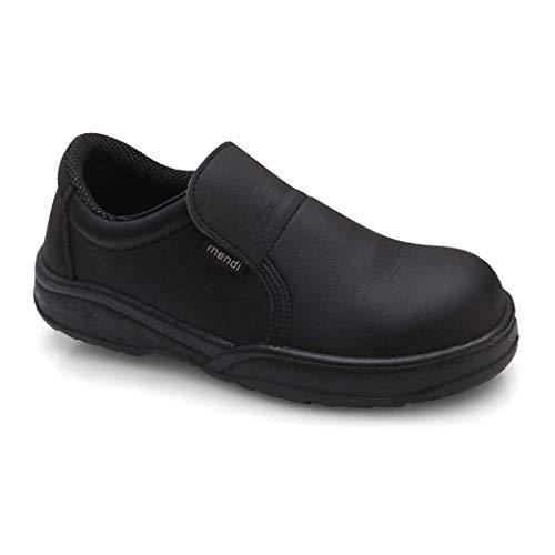 Zapato de Seguridad para Hombre y Mujer Zapato de Trabajo Comodos con Puntera Reforzada de Acero Calzado Laboral Antideslizantes antifatiga Ligero y Muy Comodos (Negro, Numeric_41)