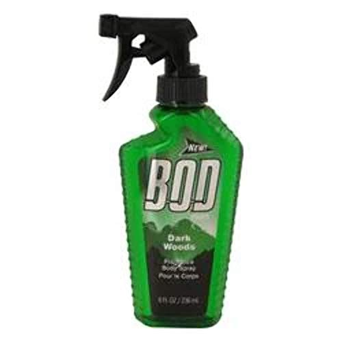 Bod Man Dark Woods by Parfums De Coeur, 8 oz Frgrance Body Spray for Men