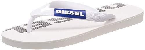 Diesel Damen SA-BRIIAN W-Sandals Flipflop, Star White/Turkish Sea/Black, 36 EU