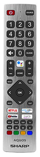 Sharp Aquos Original Fernbedienung für LCD LED Kontakte mit Netflix YouTube & Prime Video Buttons