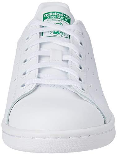 adidas Originals Stan Smith, Zapatillas, Blanco (Footwear White/Footwear White/Green 0), 38 2/3 EU
