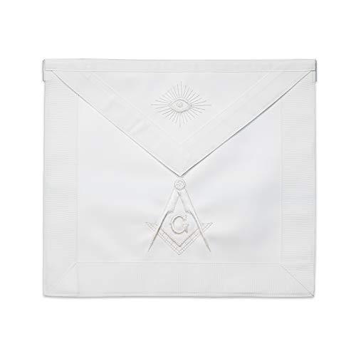 Master Mason Masonic Apron - [White]