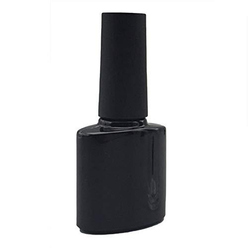 geshiglobal 10ml Bouteille vide Portable Vernis à Ongles Gel Polish Maquillage Conteneur avec pinceau Noir