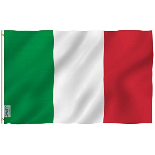 Anley Fly Breeze 3x5 Foot Italy Flag - Vivid Color and Fade Proof - Canvas Header and Double Stitched - Italian Flags Polyester with Brass Grommets 3 X 5 Ft