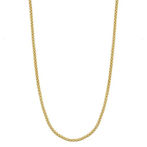 14k yellow gold popcorn chain - 3
