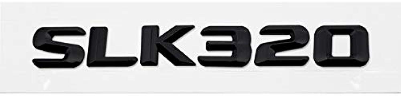 Car Styling Emblem Auto Number Letter Sticker Decal for Mercedes Benz W211 W203 W204 SLK230 250 280 SLK300 SLK320 SLK350  (color Name  Black SLK320, Size  Plastic)