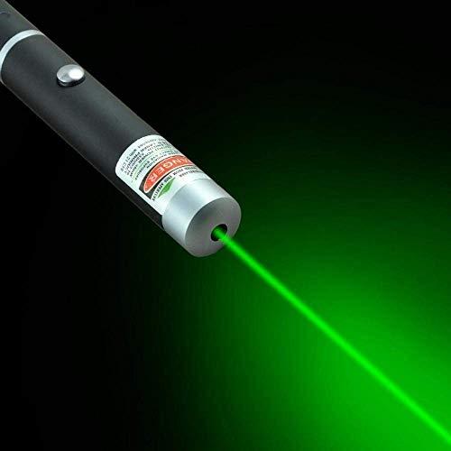 EXSESON Green Multipurpose Laser Light Disco Pointer Pen Lazer Beam with Adjustable Antena Cap to Change Project Design for Presentation