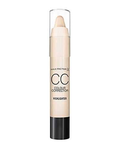 Max Factor Colour Corrector Highlighter – Farbkorrektur Stift für schimmernde Highlights – Gibt dem Gesicht Kontur – Farbe Champagner – 1 x 3 ml