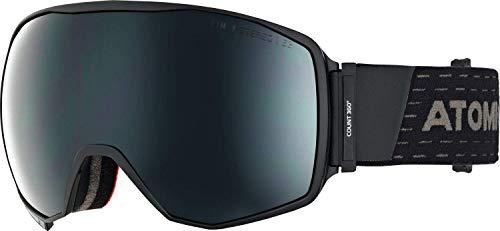 Atomic Unisex All Mountain-Skibrille Count 360° Stereo, für starkes Licht, Large Fit, Sphärische FDL-Doppelscheibe, schwarz/schwarz, AN5105626