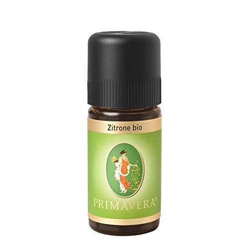 PRIMAVERA Ätherisches Öl Zitrone bio 10 ml - Aromaöl, Duftöl, Aromatherapie - erfrischend, konzentrationsfördernd, aufmunternd - vegan