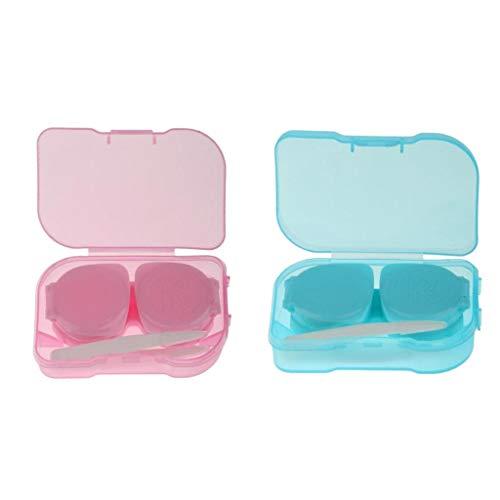 harayaa 2pcs Mini Kontaktlinsenbehälter Fallhalter Einweich Aufbewahrungsbox