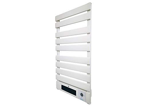 Radiador toallero de aluminio 2000 W con calefactor cerámico, control WIFI, temporizador y pantalla LED PURLINE NTW-25