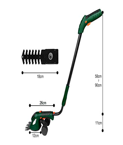 Why Choose Hedge Trimmer Electric, 3.6V Li-Ion Cordless Grass Cutter Set 2 in 1 Lawn Mower Garden Pr...