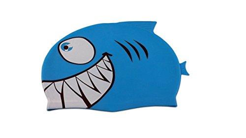 Storm Accessories Lil Swimmer Silicone Swim Cap, Shark Blue