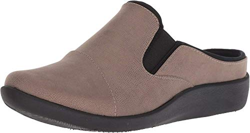Clarks Women's Sillian Free Clog, Pewter Synthetic Combi, 080 M US